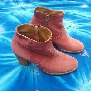 Vintage Red Leather Boots- 1970s Style, Retro